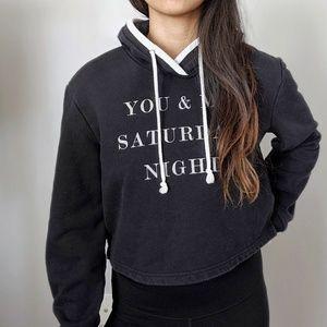Kendall & Kylie cropped hoodie